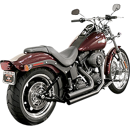 Samson Legend Series Shorties Exhaust - 2011 Harley Davidson Blackline - FXS Samson True Dual Crossover Full System With Upsweep Longtail Mufflers