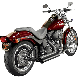 Samson Legend Series Streetsweepers Exhaust - 2011 Harley Davidson Softail Deluxe - FLSTN Samson True Dual Crossover Full System With Upsweep Longtail Mufflers