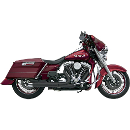 Samson Powerflow III 2-Into-1 Exhaust - 2005 Harley Davidson Road King - FLHR Vance & Hines Pro Pipe Exhaust - Chrome
