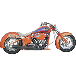 Samson Powerflow III 2-Into-1 Exhaust - 2009 Harley Davidson Night Train - FXSTB Samson True Dual Crossover Full System With Upsweep Longtail Mufflers