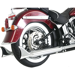 "Samson Silver Bullet 3"" Fishtail Slip-On Exhaust - 2009 Harley Davidson Night Train - FXSTB Samson True Dual Crossover Full System With Upsweep Longtail Mufflers"