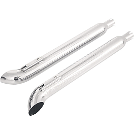 "Samson Silver Bullet 3"" Turn Out Slip-On Exhaust - 2012 Harley Davidson Road Glide Ultra - FLTRU Samson Silver Bullet 3"