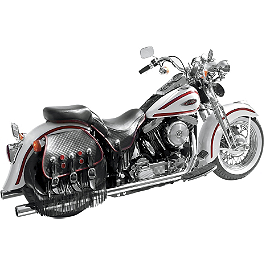 "Samson True Dual Crossover Full System With 3"" Rolled Edge Straight Cut Mufflers - Baron Extended Stainless Cable And Line Kit For 15"