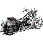 "Samson True Dual Crossover Full System With 3"" Rolled Edge Straight Cut Mufflers - Samson Cruiser Exhaust"