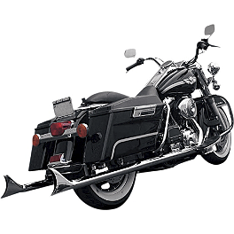 Samson True Dual Crossover Full System With Longtail Cholo Mufflers - Show Chrome Lower Front Cowl - Chrome