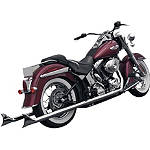 Samson True Dual Crossover Full System With Longtail Cholo Mufflers - Samson Cruiser Exhaust