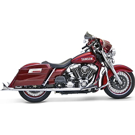Samson True Dual Crossover Full System With Slip-On Exhaust & Removable Longtail Tips - 2012 Harley Davidson Road King Classic - FLHRC Samson Silver Bullet 3