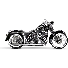 Samson True Dual Crossover Full System With Slip-On Exhaust & Removable Longtail Tips - 2007 Harley Davidson Heritage Softail Classic - FLSTC Samson True Dual Crossover Full System With Upsweep Longtail Mufflers