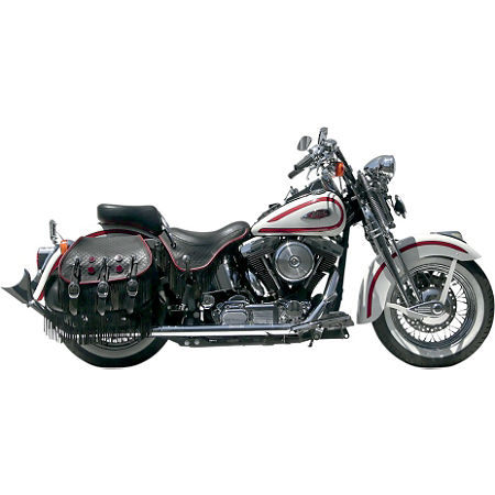 Samson True Dual Crossover Full System With Upsweep Longtail Mufflers - Chrome