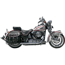 Samson True Dual Crossover Full System With Upsweep Longtail Mufflers - 2011 Harley Davidson Heritage Softail Classic - FLSTC Samson True Dual Crossover Full System With Upsweep Longtail Mufflers