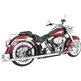 Samson True Dual Crossover Full System With Straight Longtail Mufflers - Samson True Dual Crossunder Full System With Slip-On Exhaust & Removable Longtail Tips