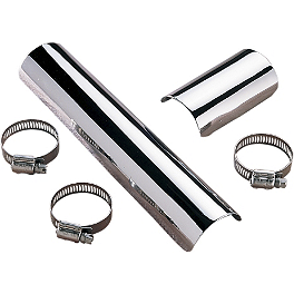 "Samson Exhaust Heat Shield - 2"" - Kuryakyn Power Cell Exhaust Cover - Chrome"