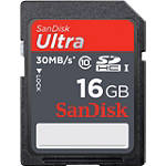 SanDisk Class 10 Ultra SD Memory Card - 16Gb - Motorcycle Helmet Cameras