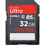 SanDisk Class 10 Ultra SD Memory Card - 32Gb - Motorcycle Helmet Cameras