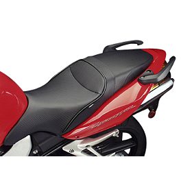 Sargent World Sport Performance Seat With Black Welt - 2005 Honda VFR800FI - Interceptor Sargent World Sport Performance Seat With Red Welt