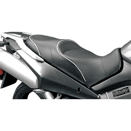 Sargent World Sport Performance Seat With Black Welt - 2008 Suzuki DL650 - V-Strom ABS Sargent World Sport Performance Seat With Silver Welt