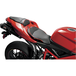 Sargent World Sport Performance Seat With Red Welt - 2010 Ducati 848 Sargent World Sport Performance Seat With Black Welt And Rear Seat Cover