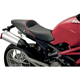 Sargent World Sport Performance Low Seat With Red Welt - 2010 Ducati Monster 1100S Sargent World Sport Performance Seat With Black Welt
