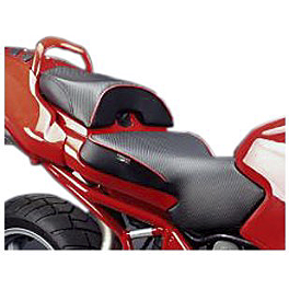 SARGENT WORLD SPORT PERFORMANCE SEAT WITH RED WELT AND REAR SEAT COVER - 2010 Ducati 848 Sargent World Sport Performance Seat With Black Welt And Rear Seat Cover