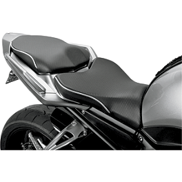 Sargent World Sport Performance Seat With Silver Welt - 2008 Yamaha FZ1 - FZS1000 Sargent World Sport Performance Seat With Black Welt