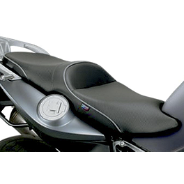 Sargent World Sport Performance Seat With Silver Welt - 2012 BMW R 1200 GS Sargent World Sport Performance Seat With Black Welt