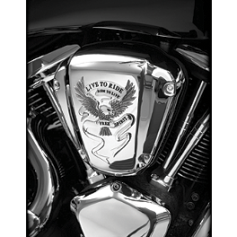 Show Chrome Air Cleaner Cover - Free Spirit - 2008 Kawasaki Vulcan 2000 Classic LT - VN2000J Show Chrome Front LED Turn Signal Conversion Kit