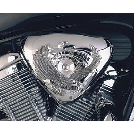 Show Chrome Air Cleaner Cover - Free Spirit - 2007 Honda Shadow VLX Deluxe - VT600CD Show Chrome Halogen Spotlight Kit