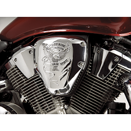 Show Chrome Air Cleaner Cover - Free Spirit - 2009 Honda VTX1300C Kuryakyn Front Caliper Cover