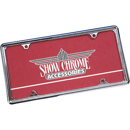 Show Chrome Automotive License Plate Trim - 6