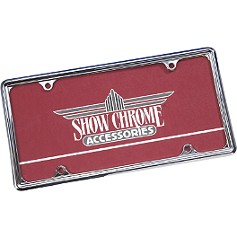 "Show Chrome Automotive License Plate Trim - 6"" X 12"" - 1997 Kawasaki Vulcan 800 - VN800A Arlen Ness Flamed Grips"