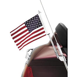 Show Chrome Antenna Mount Flag Pole With U.S. Flag - 2006 Honda Gold Wing 1800 Audio Comfort Navigation - GL1800 Show Chrome Handlebar Clamp Plugs