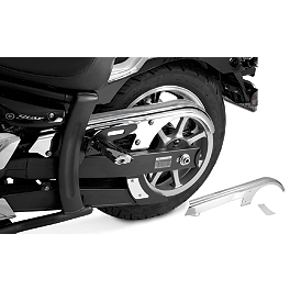 Show Chrome Belt Cover - Chrome - 2010 Yamaha V Star 1300 Tourer - XVS13CT Yamaha Star Accessories Tall Quick Release Windshield