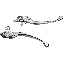 Show Chrome Smooth Blade Brake And Clutch Lever Set - Show Chrome Triple Tree Accent