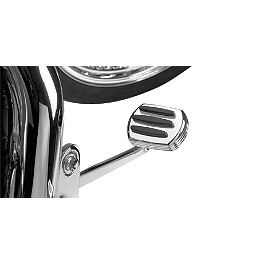Show Chrome Comfort Brake Pedal Cover - 1991 Honda Shadow VLX - VT600C Show Chrome Slider Brake Pedal - Flame