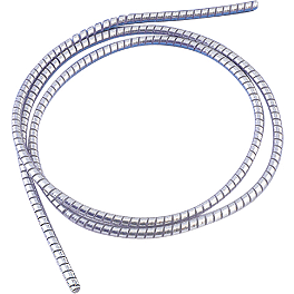 Show Chrome Cable Cover - Drag Specialties Chrome Cable/Wire Covering - 5/16