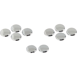 Show Chrome Allen Head Cap Plugs - Show Chrome Peg Set With Driver Anti-Rotation Block - Diamond