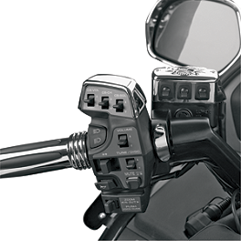 Show Chrome C.B. Controller Cover - 2006 Honda Gold Wing Airbag - GL1800 Show Chrome Handlebar Clamp Plugs