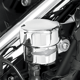 Show Chrome Rear Brake Reservoir Cover - Celestar - Yamaha Star Accessories Leather Grab Rail Bag