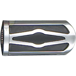 "Show Chrome Case Guard Peg Set With 1"" Clamp - Celestar - 2004 Honda Shadow VLX - VT600C Show Chrome Helmet Holder Pin - 10mm"