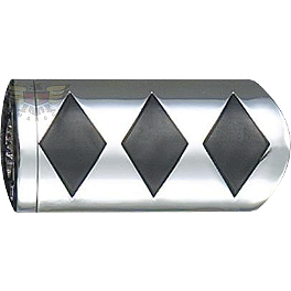 "Show Chrome Case Guard Peg Set With 1"" Clamp - Diamond - Show Chrome Radio Side Accents"