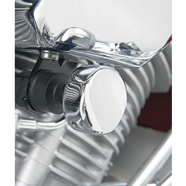 Show Chrome Choke Knob Cover - 2005 Yamaha V Star 650 Midnight Custom - XVS650M Show Chrome Slider Brake Pedal - Flame