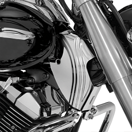Show Chrome Contour Neck Covers - Chrome - Baron Custom Accessories Round Master Cylinder Cover
