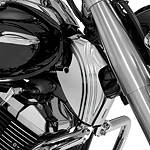 Show Chrome Contour Neck Covers - Chrome - Cruiser Frame Covers