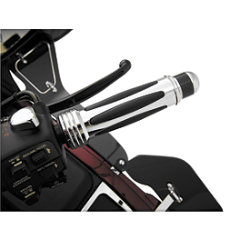 Show Chrome Handlebar Dampeners - 2008 Honda Gold Wing 1800 Premium Audio - GL1800 Show Chrome Heel-Toe Shifter