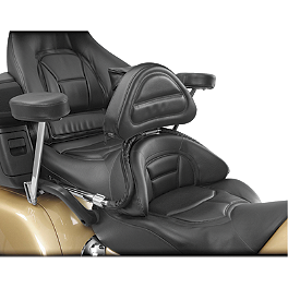 Show Chrome Driver Backrest - Black - 2006 Honda Gold Wing Airbag - GL1800 Show Chrome Handlebar Clamp Plugs