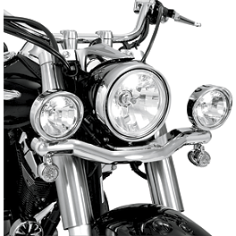 Show Chrome Driving Light Kit - Contour - 2004 Yamaha V Star 1100 Classic - XVS11A Cobra Lightbar - Chrome