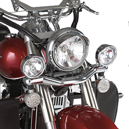 Show Chrome Driving Light Kit - Contour - 2010 Honda Sabre 1300 - VT1300CS National Cycle Light Bar