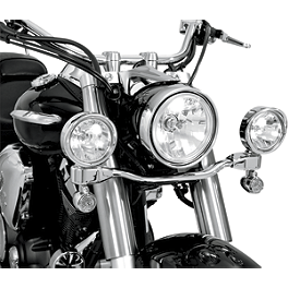 Show Chrome Driving Light Kit - Elliptical - 2007 Kawasaki Vulcan 900 Classic LT - VN900D Cobra Lightbar - Chrome