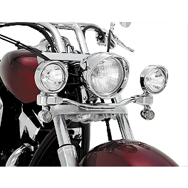Show Chrome Driving Light Kit - Elliptical - Kuryakyn Driving Light Bar Mounting Bracket