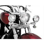 Show Chrome Driving Light Kit - Elliptical - Cruiser Motorcycle Light Bars